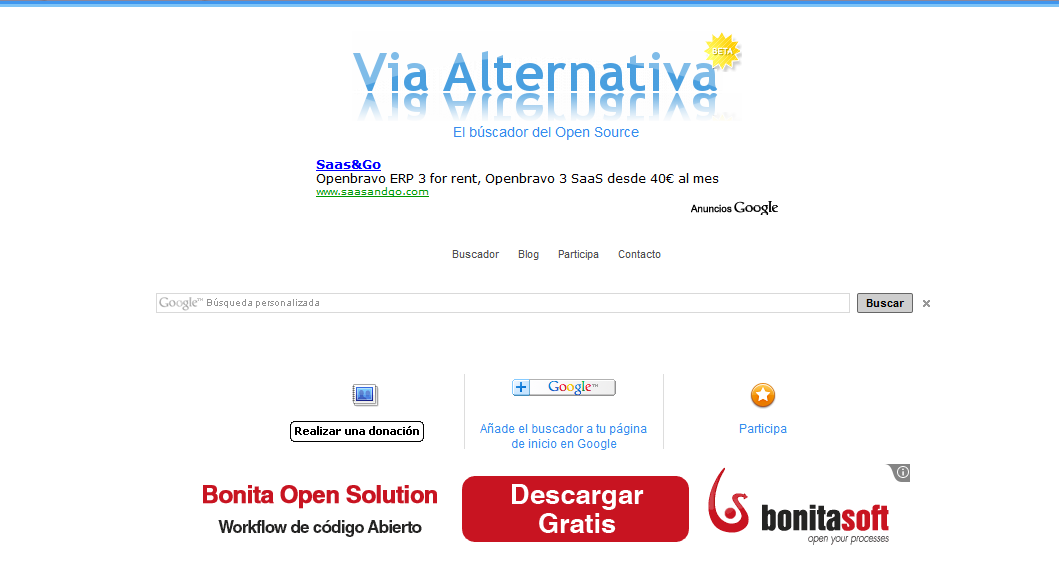Buscador opensource Via Alternativa